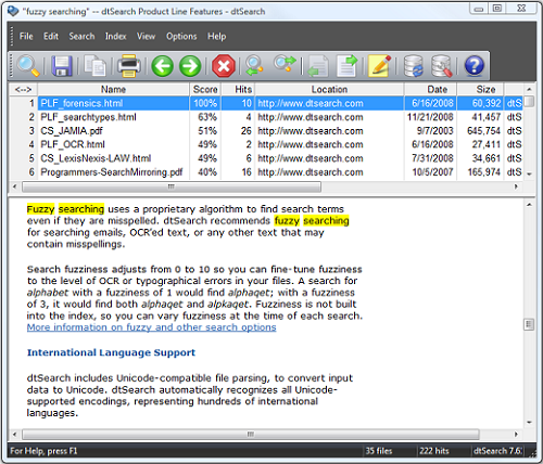 DtSearch Engine 7.97 free download