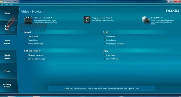 roxio creator nxt 7 user manual