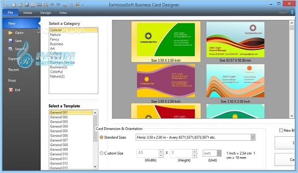 business card design software
