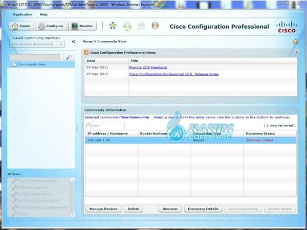 cisco configuration professional