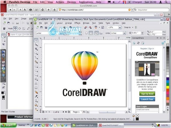CorelDRAW X4 Windows 10