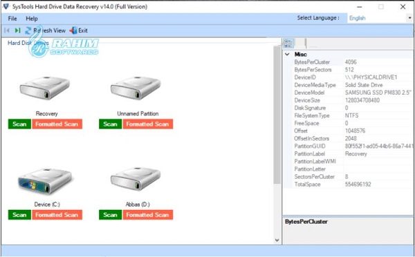 SysTools hard drive data Recovery free Download