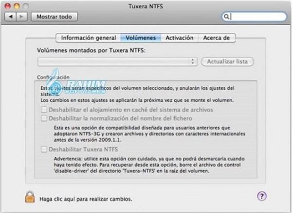 Uninstall Tuxera NTFS for Mac