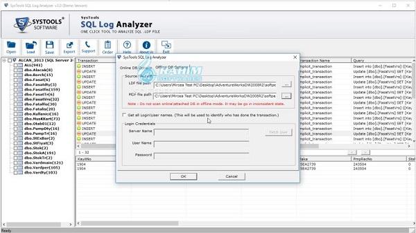 SQL transaction log Viewer
