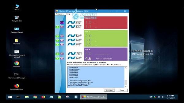Hiren's boot CD Windows 10