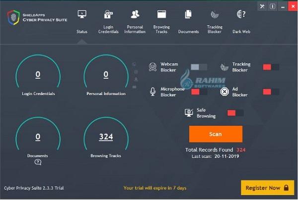 Cyber shield app