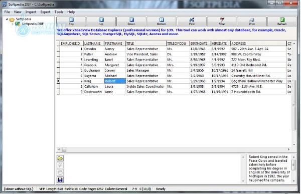 DBF to SQL Converter online