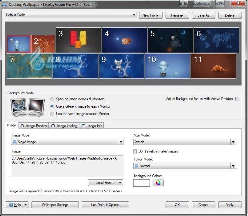 DisplayFusion monitor Splitting