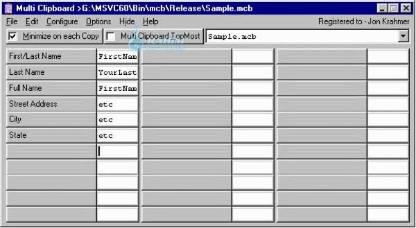 Download ElectraSoft Multi Clipboard 21.0