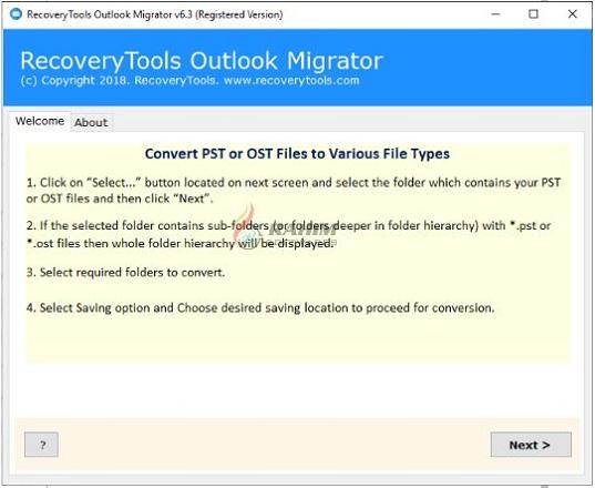 RecoveryTools DOCX Migrator 3.2