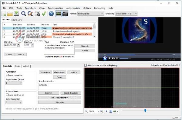 Subtitle edit online