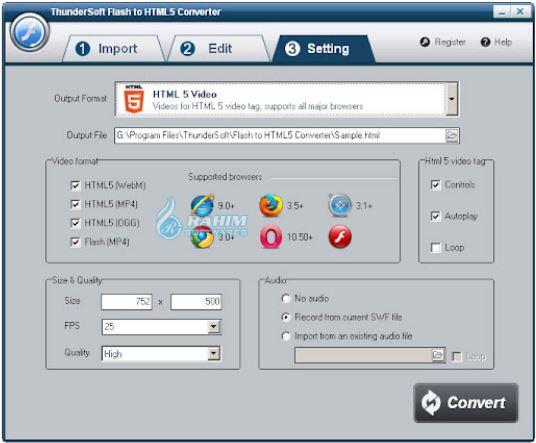 ThunderSoft Flash to HTML5 Converter 4.5