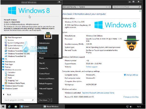 Windows 8.1 lite 2021