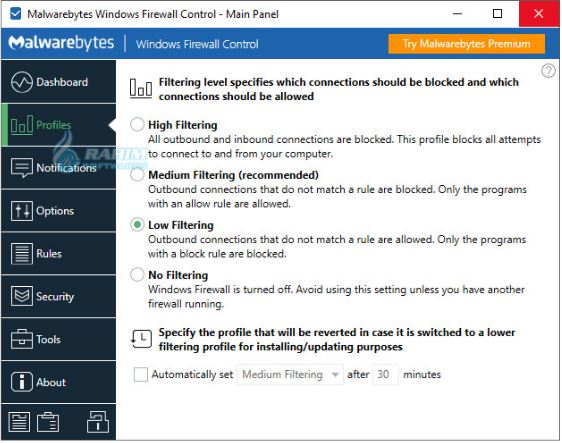 Windows Firewall Windows 10