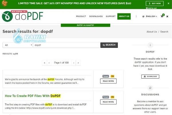 doPDF 8 download free