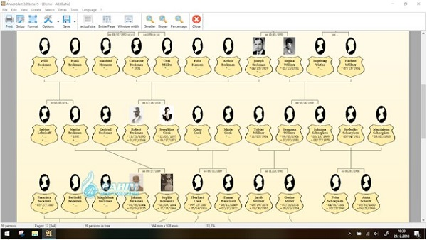 3D family tree software