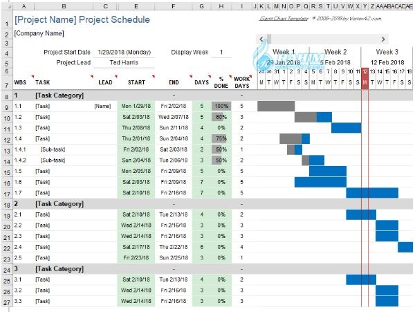 Gantt Excel free download