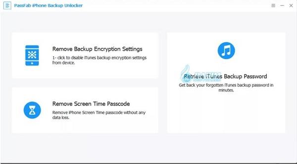 iPhone backup password Unlocker