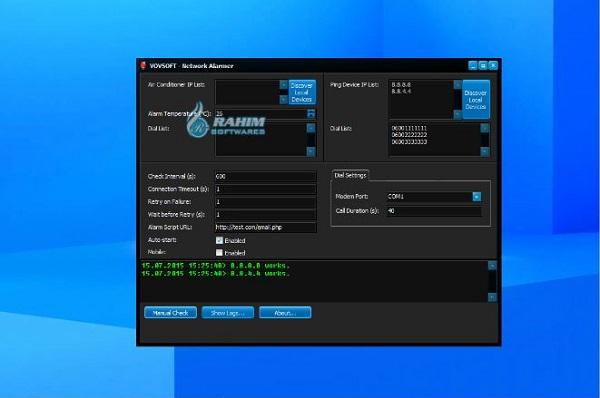 Download VovSoft Network Alarmer