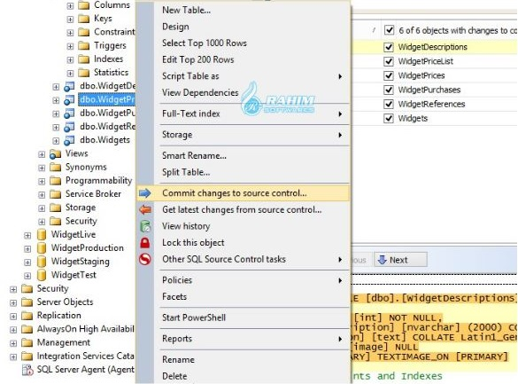 SQL source control Visual Studio