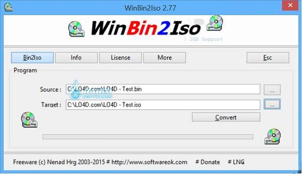 WinBin2Iso safe