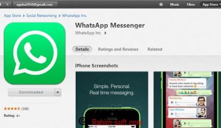 Get whatsapp software on wifi device